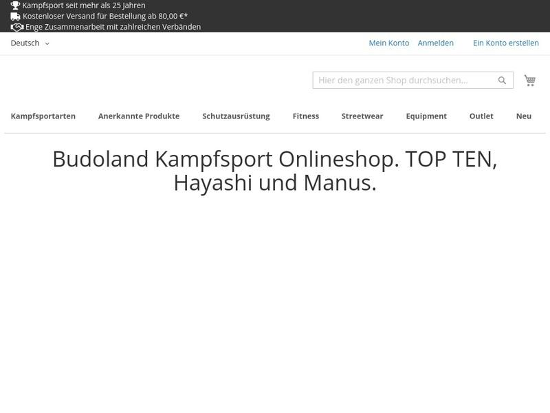 Screenshot von www.budoland.de
